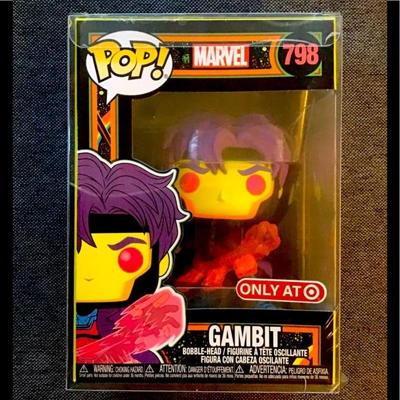 Funko PoP Marvel:X-Men Classic Gambit (Blacklight)